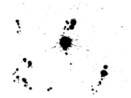 dirt splashes ink