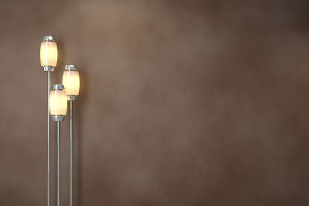 Modern lamps. Soft lighting. Background