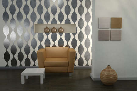 Design interior. Modern living room. Stock Photo