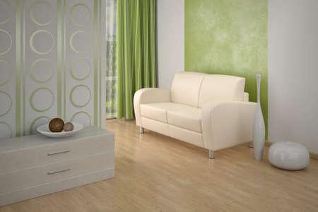 Design interior. Sofa in Modern living room. photo