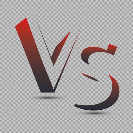 Versus Logo. VS Vector Letters Illustration. Competition Icon. Fight Symbol. Illustration