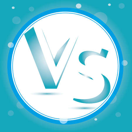 Versus Logo. VS Vector Letters Illustration. Competition Icon. Fight Symbol. Illustration