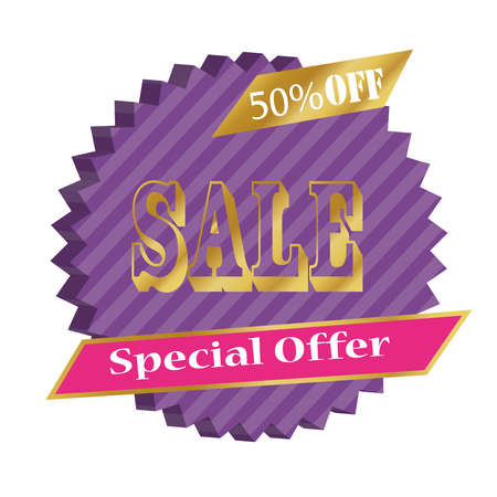 Super sale banner. Big sale clearance with 50% off.