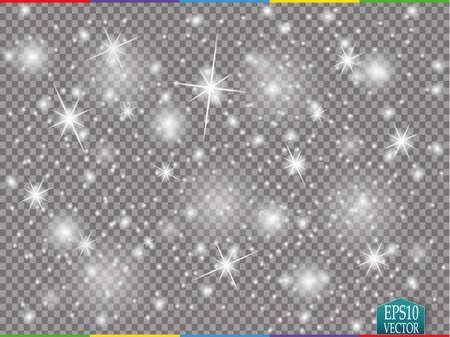 Glow light effect. Vector illustration. Christmas flash Concept. Illusztráció