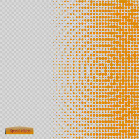 Halftone pattern vector.blue the circles to the background squares.
