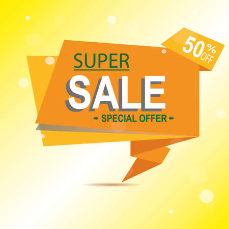 Super Sale for clearance at 50 off It s a hot deal sale poster a colorful background. Wow Special offer sale poster or flyer template for your marketing or ad campaigns. Also for retail sales