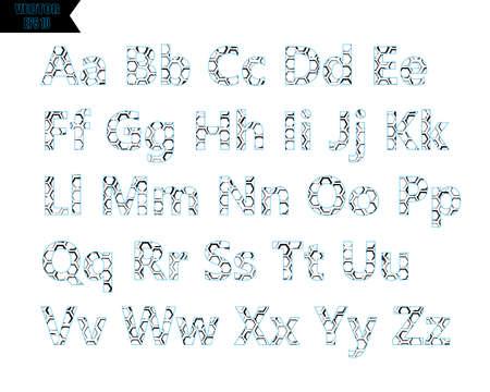 Black stencil alphabet font template. Vintage letters and numbers stamp design. Vector illustration.