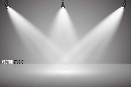 Empty light interior with a podium, for your creative project. Vector illustration Illustration
