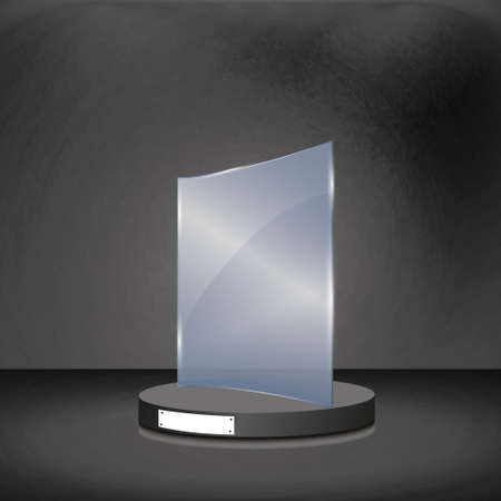 Glass Trophy Award. Vector illustration. Illustration