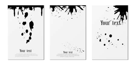 Page with shadow and ink blots, design element for advertising and advertising messages, isolated on a white background. Vector illustration.