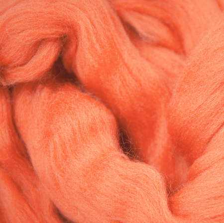 Texture of merino wool for felting close up. Handcraft material. Handmade design theme concept
