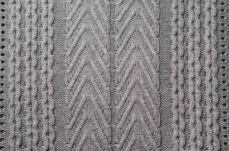 Knitted fabric wool texture close up as a background. Abstract backdrop