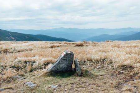 Mountain stone on top of the mountain.