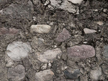 Gray background image, large stones in a swamp close-up with place for text