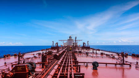 An oil tanker in the Indian Ocean