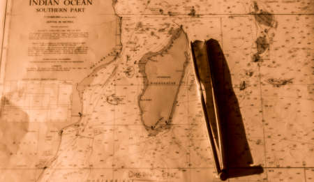 Nautical map of Indian Ocean