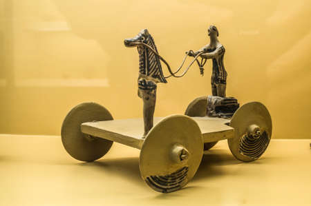 Ancient archaic toy for children- Museum of ancient Agora in Athens, Greece