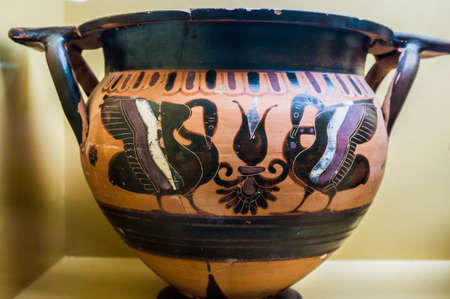 Ancient Archaic Vase Museum Of Ancient Agora In Athens Greece