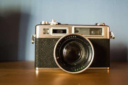 Vintage film photo camera Stock Photo