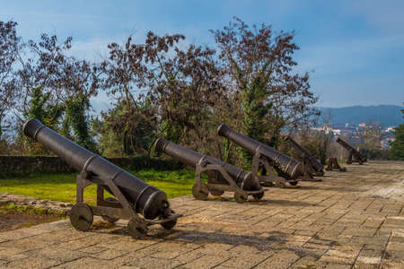 Medieval cannons at ioanninas castle in Greece