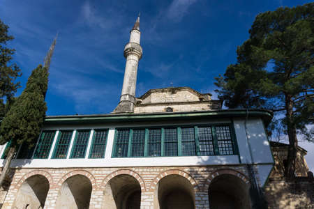 Aslan Pasha Mosque in the fortress of Ioannina in Greece. The Aslan Pasha Mosque  is an Ottoman-built mosque in the city of Ioannina, Greece. It was built in the 17th century in the citys castle. Since 1933 it houses the Municipal Ethnographic Museum of  Editöryel