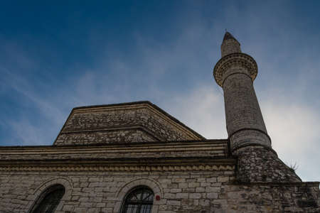 Aslan Pasha Mosque in the fortress of Ioannina in Greece. The Aslan Pasha Mosque  is an Ottoman-built mosque in the city of Ioannina, Greece. It was built in the 17th century in the citys castle. Since 1933 it houses the Municipal Ethnographic Museum of Ioannina