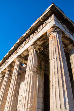The Temple of Hephaestus or Hephaisteion is a well-preserved Greek temple in the western perimeter of the Agora archaeological site in Athens Greece. It was dedicated to Hephaestus and Athena and it was built in 460-415 BC