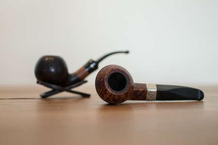 Close up of a smoking pipes Imagens