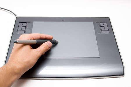 digitizer: Working with digitizer Stock Photo