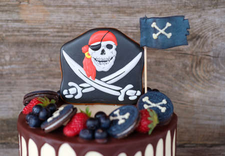 beautiful home in a pirate style for a kid's birthday party Stock fotó