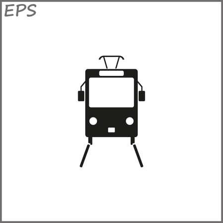 Black tram, vector illustration Illustration