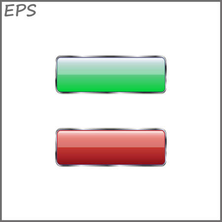 void: set of two buttons for website, vector illustration