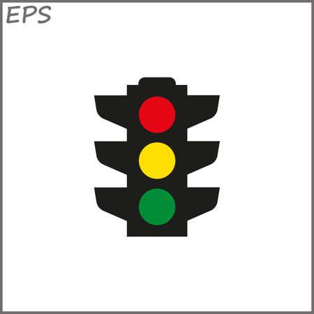 Traffic light signal -  vector icon