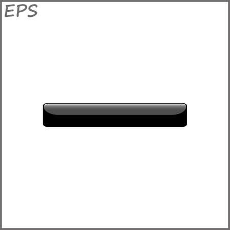 void: button for website, vector illustration