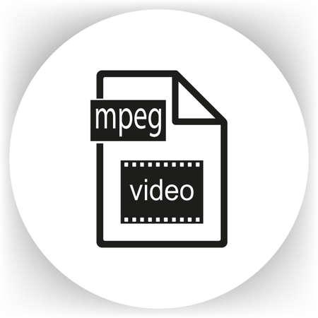 Plain file icon, vector illustration