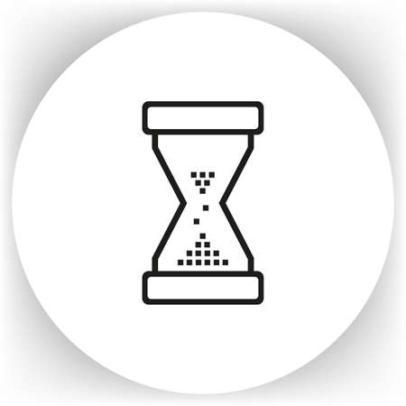 timepieces: Hourglass icon, vector illustration