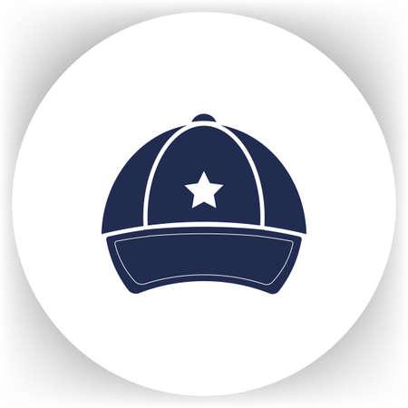 hat with visor: Cap, vector illustration on background. Illustration
