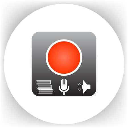 linguistics: Language learning program icon on background. Study symbol vector illustration