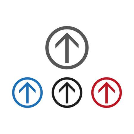 Vector icon arrow set.