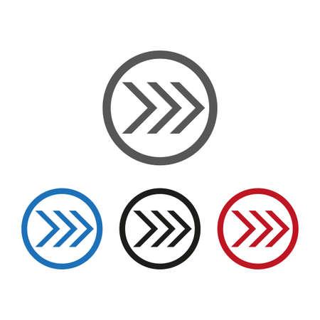 Vector icon, set arrow