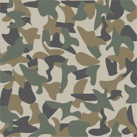 Сamouflage pattern on gray background. Çizim
