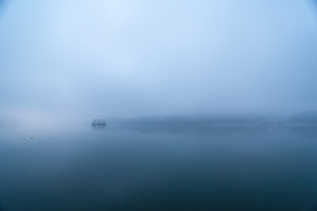 Blue Dawn of the Han River, Korea photo