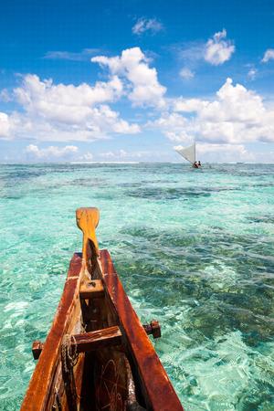 Sea landscape on the boat in Guam photo