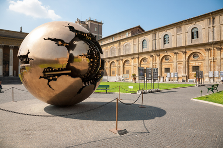 within: Golden Earth Sphere within sphere  In Vatican Museums, Rome