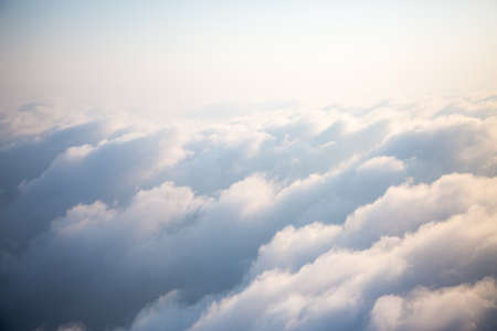 Clouds in the sky. Aerial View.