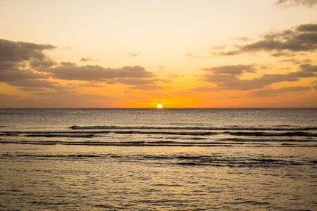 guam: Beautiful sunset above the sea in Guam