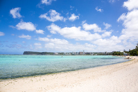 Ypao beach in Guam on a sunny day.