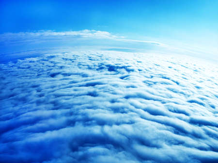 Earth from above the clouds - thick white clouds Stock Photo