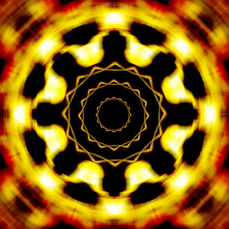 hellish: Abstract rotating fire wheel  Stock Photo