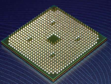 Modern dual core processor closeupmacro photo Stock Photo